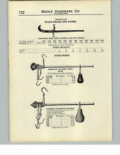 1910 PAPER AD Union Platform Scale King Cotton Beam Chatillon Steelyard Farmer