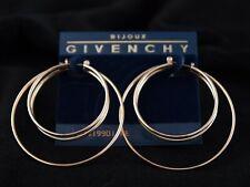 Sleek Vintage Givenchy Triple Hoop Earrings - Pierced