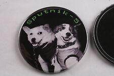 """Soviet Belka and Strelka Space Dog Korabl-Sputnik 2 1960 Mirror 3"""" Made in USA"""