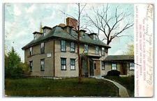 1906 Buckman Tavern, Captain Parker's HQ, Lexington, MA Hand-Glittered Postcard