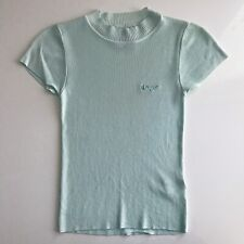 UNIF Izz Top in Mint Green/Blue Size Small