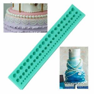 Silicone Pearl Beads Mold Cake Decoration Fondant Sugarcraft Baking Border Mould