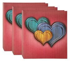 3 Fotoalben Valentina in Rot für 200 Fotos in 10x15 cm Einsteck Foto Album