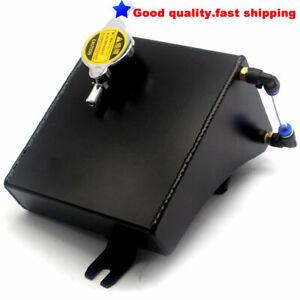Aluminum Coolant Overflow Tank Reservoir Kit For 240SX S13 SR20DET KA24DE BLACK