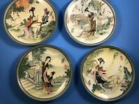 Set of 4 Imperial Jingdezhen Porcelain Plates - Beauties of the Red Mansion..b