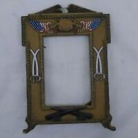 ANTIQUE CAST PATRIOTIC US MILITARY WAR VETERAN PICTURE FRAME 9443 FREE SHIP YX