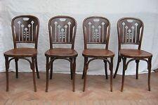 4 Sedie marcate KOHN (concorrente THONET) Originali 1910 ca. Liberty - RARISSIME