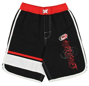 Outerstuff NHL Youth (8-20) Carolina Hurricanes Swim Shorts, Black