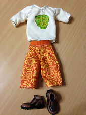 Barbie My Scene Ken Hudson Doll Outfit Cloth T-shirt Floral Shorts Shoes