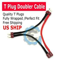Dean T-Plug Y Wire Harness TPlug Series Battery Connector Adapter Cable 14 Awg