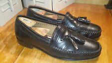 Men's Sz 9.5 M Brass Boot Tassel Loafers Black Leather Walking Gloves The Alfred