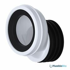 "Viva 4"" 110mm Offset 40mm down from centre Toilet Pan Connector White PP0003/A"