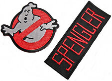 GHOSTBUSTERS No-Ghost Logo and SPENGLER Name Set of 2 Iron On/Sew On PATCHES