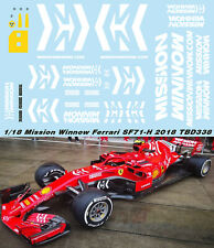 1/18 FERRARI SF71H 2018 MISSION WINNOW DECALS VETTEL RAIKKONEN TB DECAL TBD338