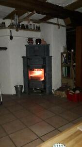 Kaminofen Speckstein 8 KW, von BK-Ofenbau in Wesel, für Holz und Kohle geeignet