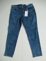 Damen lange Jeans  Gr. 44 bis 58 dunkel Blau Stretch Hose Skinny von Sheego