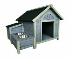 Wooden Dog House Dog Kennel With Dog Bowls W42*D39*H30 inch