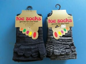 SONDERANGEBOT 6 Paar Zehen-Socken schwarz grau melliert 95% Baumwolle NEU 36-41