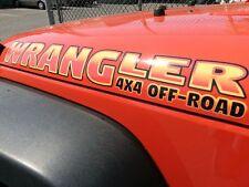 Haube Aufkleber Sticker Für - Wrangler 4x4 Aus Road - Pick Farbe - 2pc Set