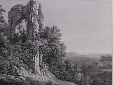 J. P. Veith 'paesaggio con rovine nei pressi di Roma; landscape, Rome' #8, 1822