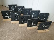 Wedding blackboard Chalkboard Chalk Signs Table Names Numbers X 10 Wood handmade