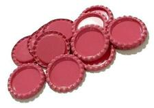 10 pcs. Hot pink flattened bottle caps