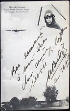 Mischa Beder Russian Aviation Pioneer Autograph Signed Post Card 1914 Uncommon