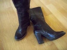 a2e6df623a2 Style  Motorcycle Boots. BCBG GENERATION Women s Brown Leather Knee High Boot  Shoe Chucky Heel Size ...