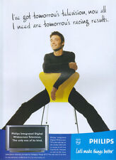 "Philips ""ive Got Tomorrows Television"" 1999 Magazine Advert #4224"