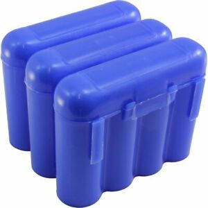 3 BLUE AA AAA BATTERY BATTERY PLASTIC STORAGE CASE HOLDER BOX USA SHIP