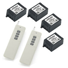 12V 4CH Relays Smart RF Wireless Remote Control Switch White Long 2 Transmitter