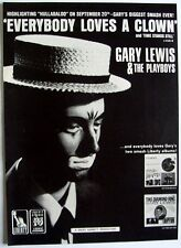 GARY LEWIS AND THE PLAYBOYS 1965 Poster Ad EVERYBODY LOVES A CLOWN