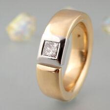 Ring Solitärring mit ca. 0,30ct Diamant in 750/18k Weiß-Gelbgold