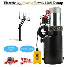 6 Quart Poly 12 Volt Hydraulic Pump for Dump Trailer Single Acting