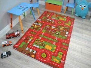 Childrens Large Girls Boys Bedroom Playroom Floor Mat Carpets Kids Play Fun Rugs