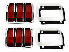 1965-66 Mustang Tail Light Assembly Pair w/Bezel & Lens, Both Right & Left Side