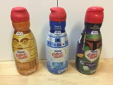 Star Wars Limited Edition Nestle Coffee Mate Creamer C-3PO, R2-D2, Boba Fett Btl
