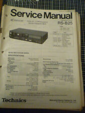Technics RS-B25 Cassette Deck  Service Manual
