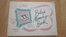Libby's Baby Memory Book Advertising Libby's Baby Foods Vintage 1938 Good Used