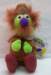 "TYCO Sesame Street Bean Bag SHERLOCK HEMLOCK 9"" STUFFED ANIMAL Toy NEW"