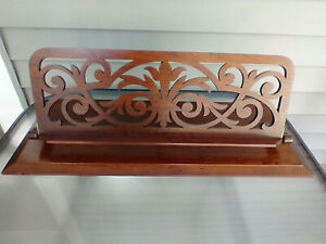 1800s Awesome Victorian Sheet Music Holder Walnut Book Bible Stand Display Easel