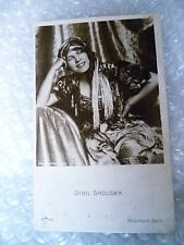 Postcard- Actress SYBIL SMOLOWA in costume