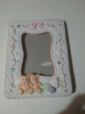 Mervyns Ecru 5x7 Inch Floral Ceramic Picture Frame Hand Painted New open Box
