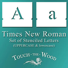 Times New Roman Stencil Font – lowercase and UPPERCASE Lettering Alphabet #098