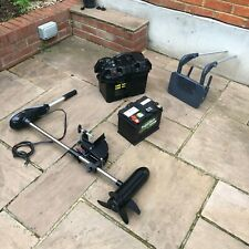 RHINO ELECTRIC OUTBOARD MOTOR VX 54 BOAT FISHING (+ BATTERY BOX + EXTRAS)