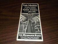 MAY 1961 MILWAUKEE ROAD HIAWATHAS PUBLIC TIMETABLE