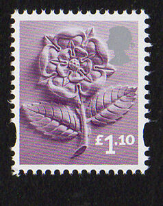 2011 England EN41 £1.10 Tudor Rose Cartor Litho Regional Definitive MINT