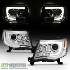 For 2005-2011 Toyota Tacoma LED Tube Projector Headlights Pre X Runner Headlamps