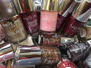 NAILS INC POLISH / SPECIAL EFFECTS WHOLESALE JOBLOT PACK OF 12 ASSORTED COLOURS