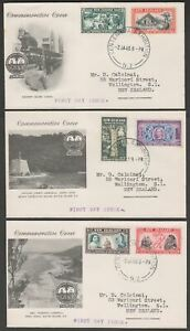 New Zealand 1940 KGVI Centennial Exhibition First Day Covers x 8